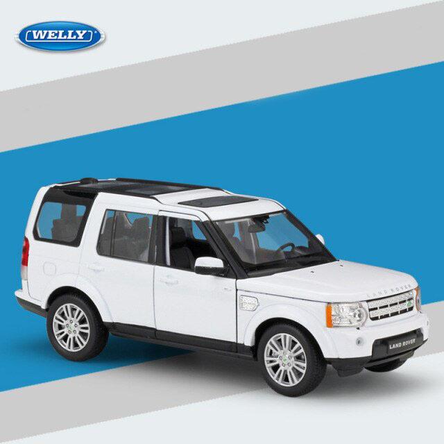 Miniatura Carro Colecionável Land Rover Discovery 4 Branco Diecast Escala 1/24 - Welly - MKP
