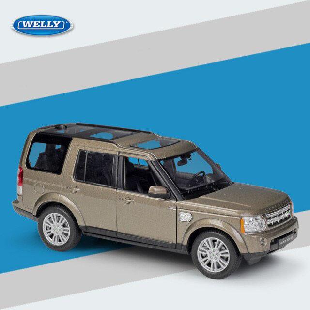 Miniatura Carro Colecionável Land Rover Discovery 4 Marrom Diecast Escala 1/24 - Welly - MKP