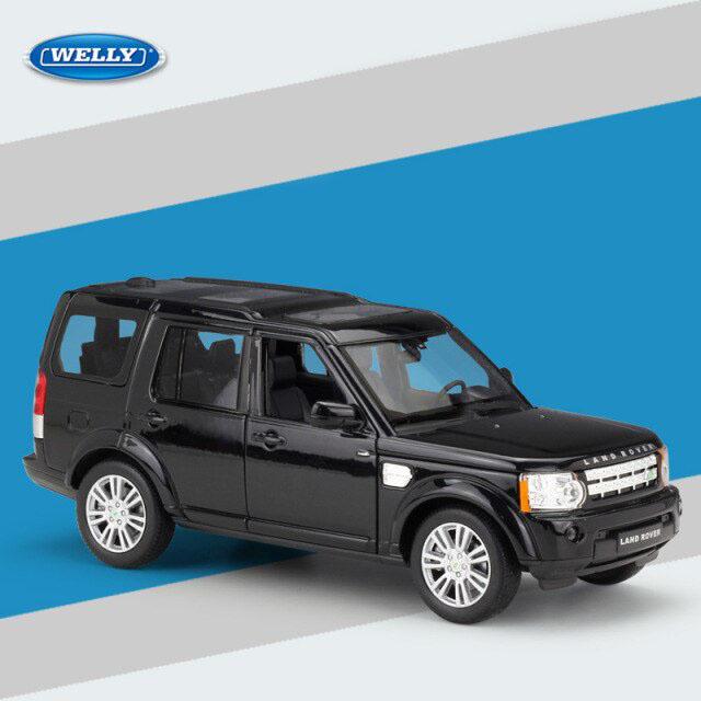 Miniatura Carro Colecionável Land Rover Discovery 4 Preto Diecast Escala 1/24 - Welly - MKP