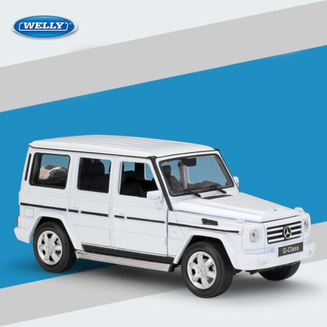 Miniatura Carro Colecionável Mercedes Benz G-Class Branco Diecast Escala 1/24 - Welly - MKP