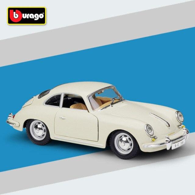 Miniatura Carro Colecionável Porsche 365B Coupe 1961 Branco Diecast Escala 1/24 - Bburago - MKP