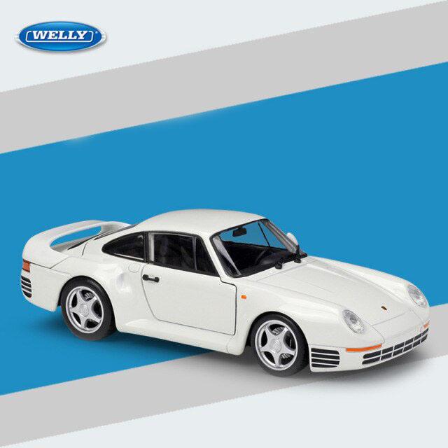 Miniatura Carro Colecionável Porsche 959 Branco Diecast Escala 1/24 - Welly - MKP