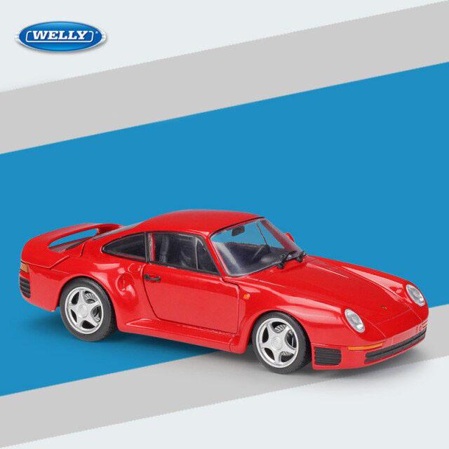Miniatura Carro Colecionável Porsche 959 Vermelho Diecast Escala 1/24 - Welly - MKP