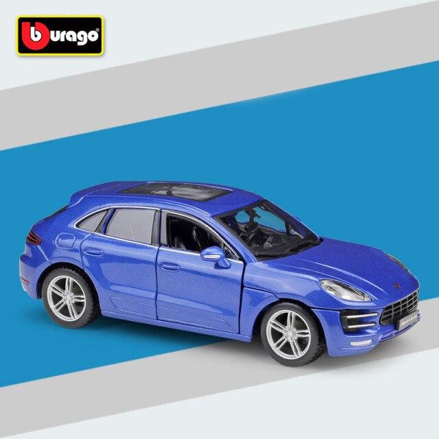 Miniatura Carro Colecionável Porsche Macan Azul Diecast Escala 1/24 - Bburago - MKP