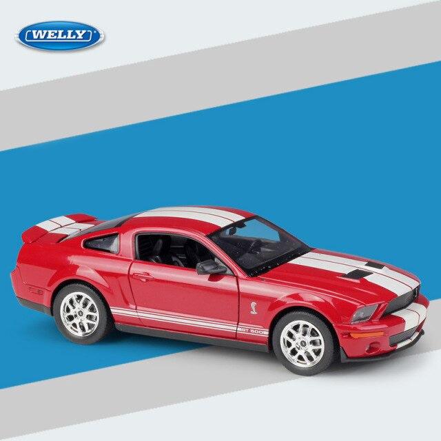Miniatura Carro Colecionável Shelby Cobra GT500 2007 Vermelho Diecast Escala 1/24 - Welly - MKP
