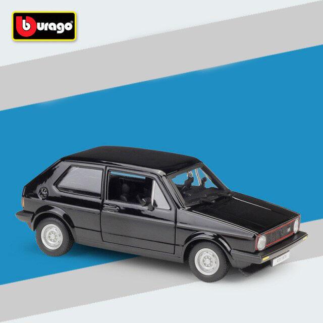 Miniatura Carro Colecionável Volkswagen Golf Mk1 GTI 1979 Preto Diecast Escala 1/24 - Bburago - MKP
