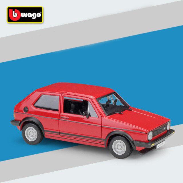Miniatura Carro Colecionável Volkswagen Golf Mk1 GTI 1979 Vermelho Diecast Escala 1/24 - Bburago - MKP