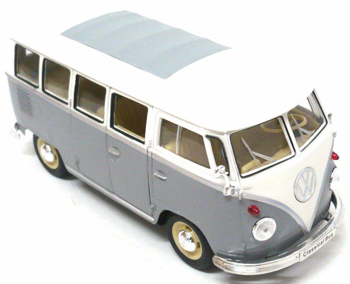 Miniatura Carro: Kombi (Branco e Cinza)