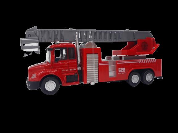 Miniatura Die-Cast Caminhão de Bombeiro (Auto-Escada)