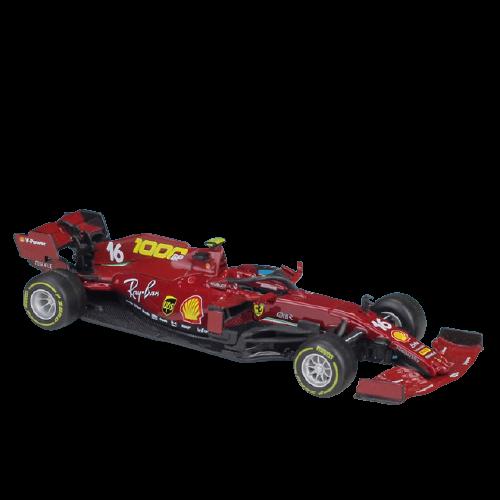 Miniatura Ferrari Racing F1 SF1000 Número 16: Charles Leclerc Fórmula 1 (1/43) - Bburago - EVALI