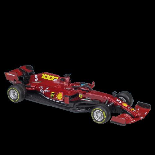 Miniatura Ferrari Racing F1 SF1000 Número 5: Sebastian Vettel Fórmula 1 (1/43) - Bburago - EVALI
