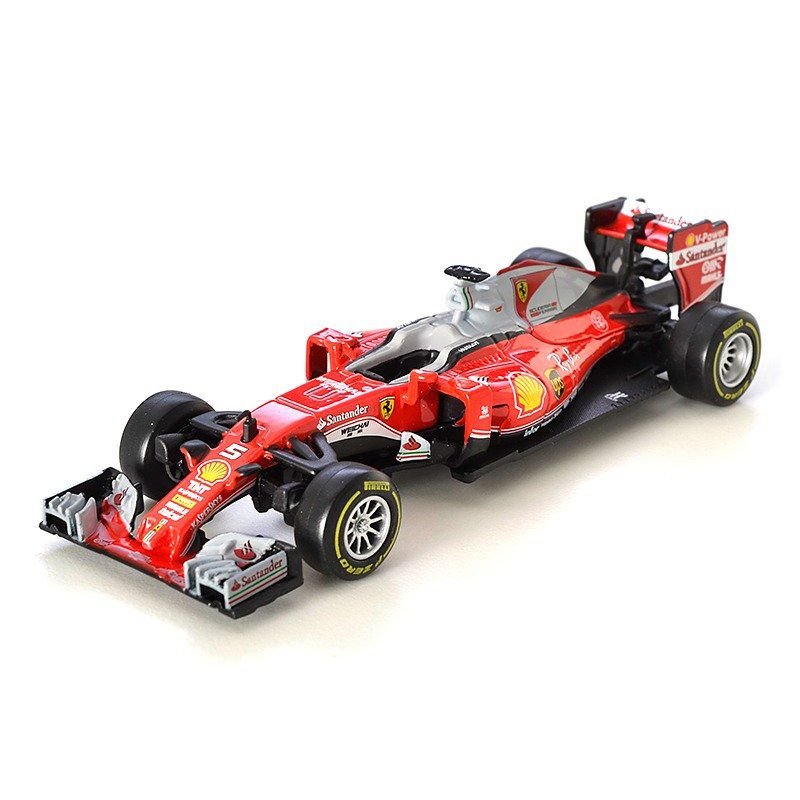 Miniatura Ferrari Racing SF16H 2016 Número 5: Sebastian Vettel Fórmula 1 (1/43) - Bburago - MKP