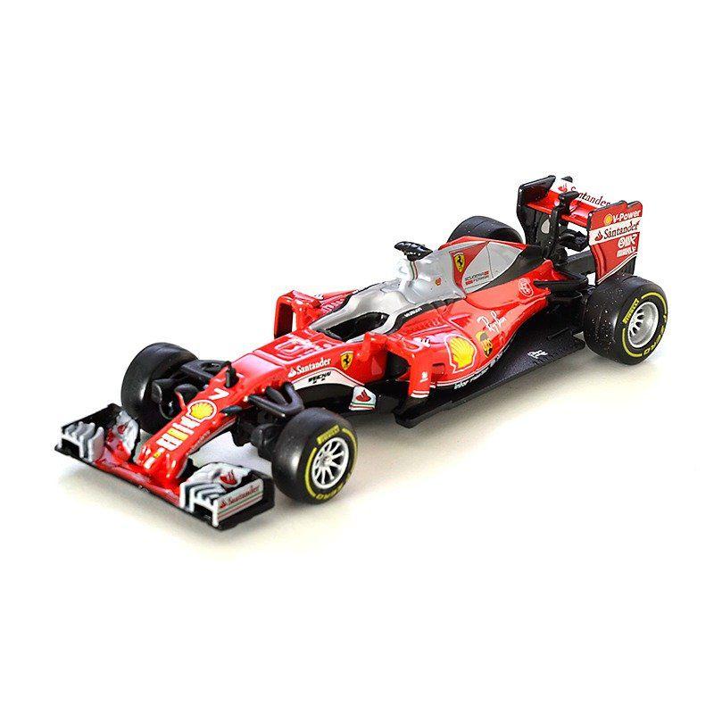 Miniatura Ferrari Racing SF16H 2016 Número 7:  Kimi Raikkonen Fórmula 1 (1/43) - Bburago - MKP