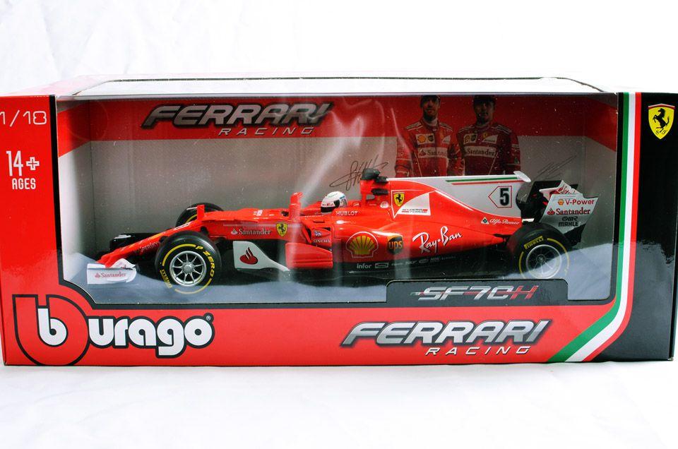 Miniatura Ferrari Racing SF70H Número 5: Fórmula 1 (1/43) - Bburago