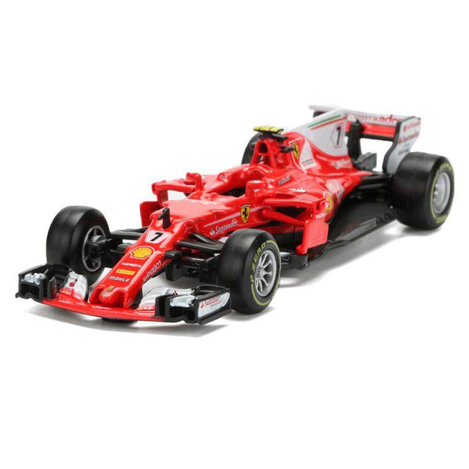 Miniatura Ferrari Racing SF70H  2017 Número 7:  Kimi Raikkonen Fórmula 1 (1/43) - Bburago - MKP