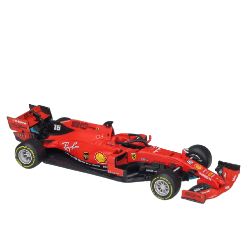 Miniatura Ferrari Racing SF90 2019 Número 16: Charles Leclerc Fórmula 1 (1/43) - Bburago - EVALI
