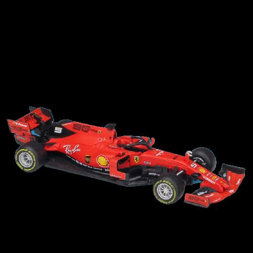 Miniatura Ferrari Racing SF90 2019 Número 5: Sebastian Vettel Fórmula 1 (1/43) - Bburago - EVALI