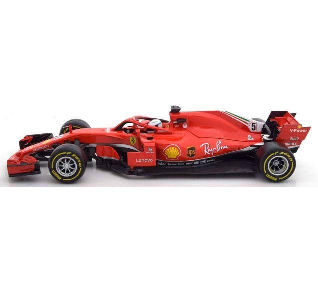 Miniatura Ferrari Sebastian Vettel (SF90): Fórmula 1 (Escala 1/18) - Burago