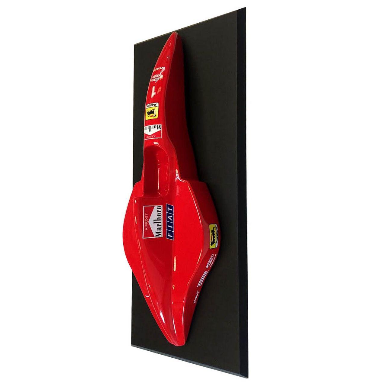 Quadro com Moldura Miniatura Carro Formula 1 F1: Scuderia Ferrari Alain Prost - CG - EV