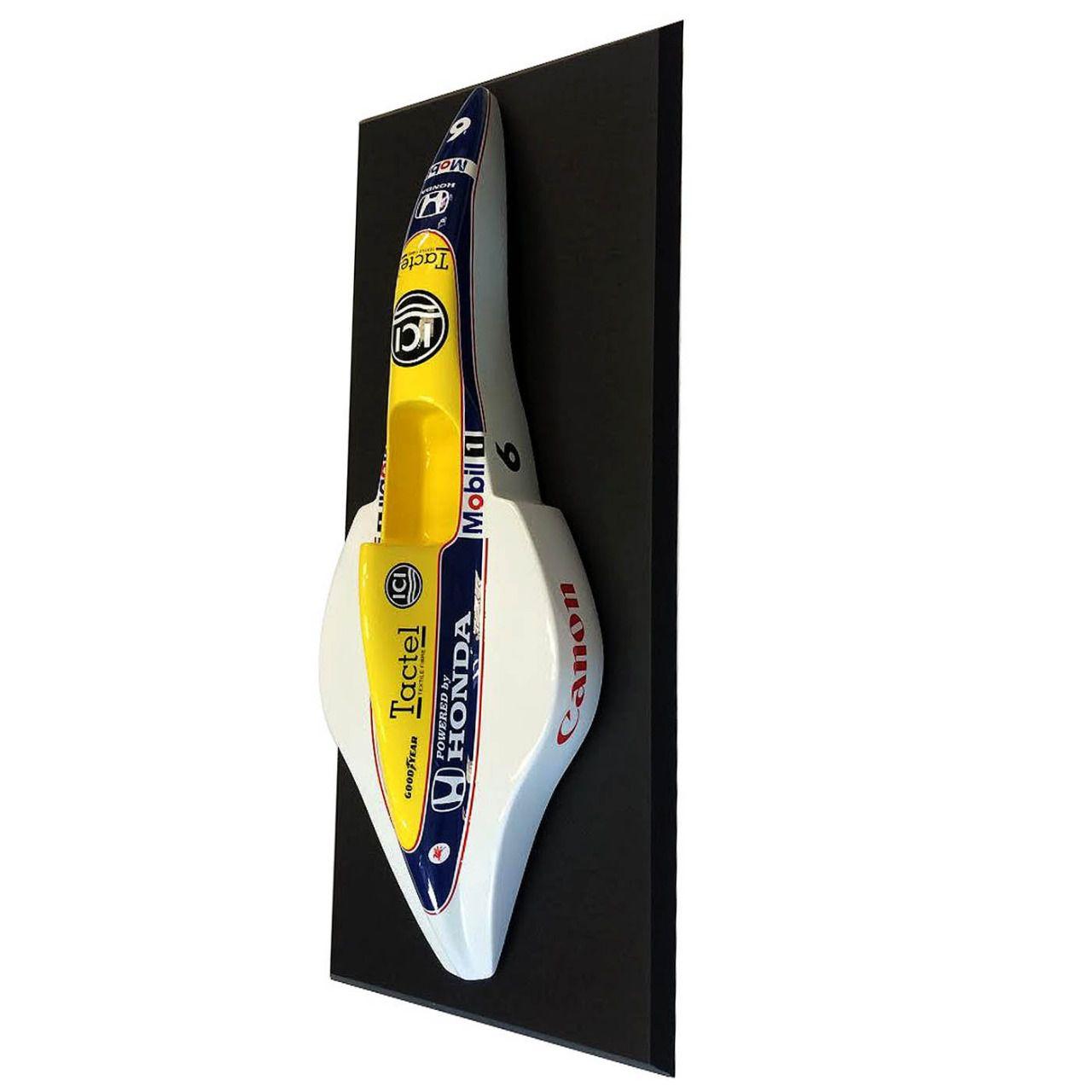 Quadro com Moldura Miniatura Carro Formula 1 F1: Williams-Honda (Nelson Piquet) - CG - EV