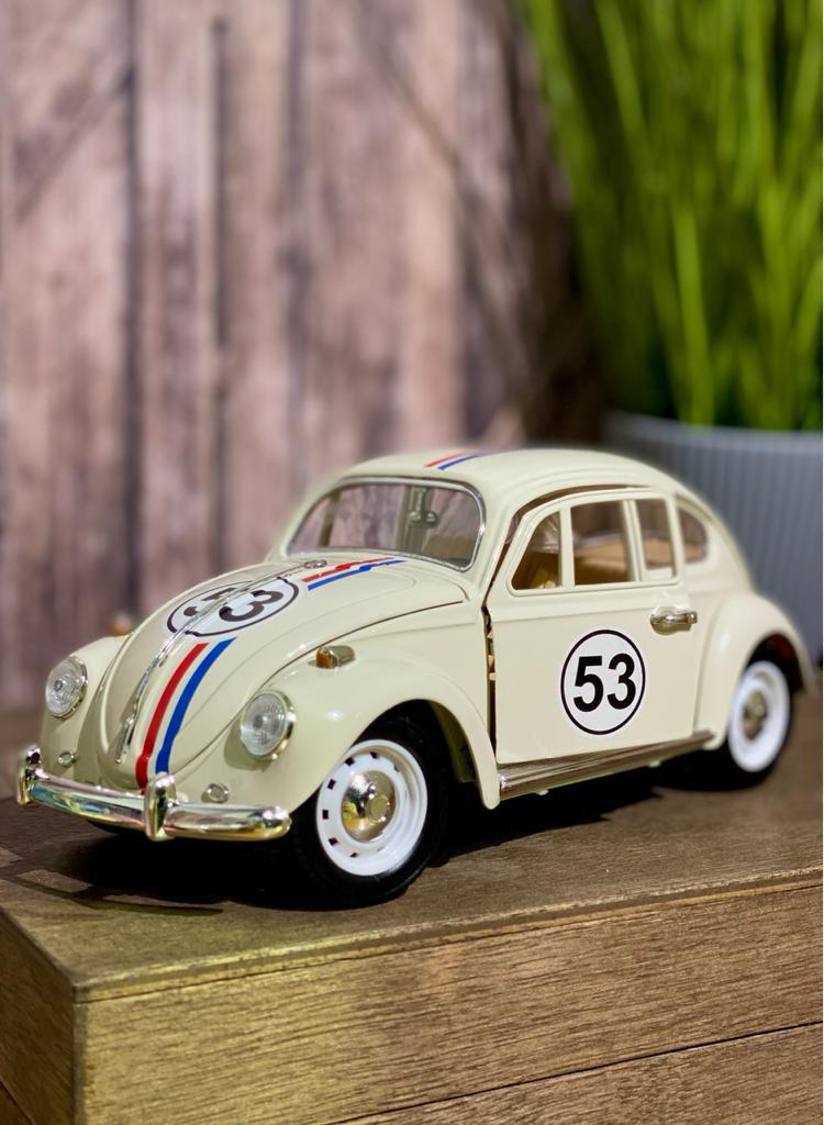 Miniatura Herbie 53: Meu Fusca Turbinado Escala 1/18 Die Cast