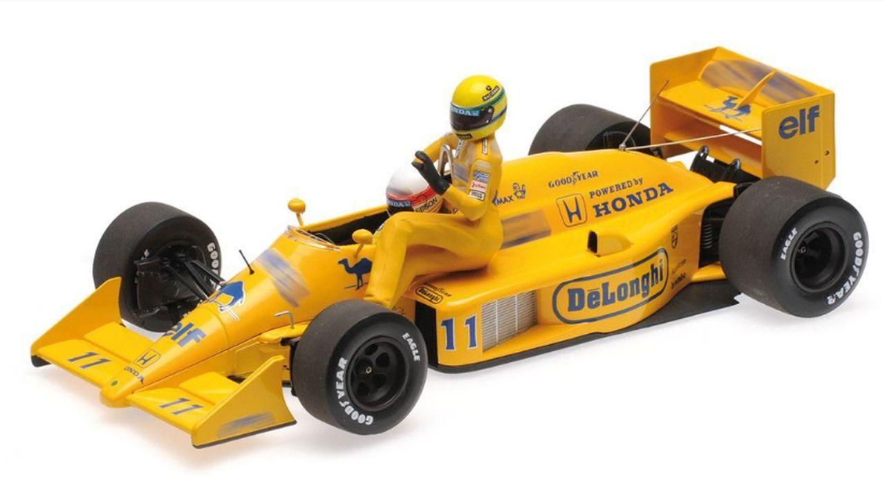 Miniatura Lotus Honda 99T Nakajima/Senna Número 11: Fórmula 1 (Escala 1/18) - Burago