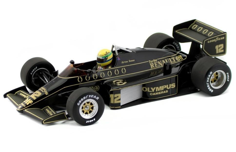 Miniatura Lotus Renault 97T 1985: Ayrton Senna Escala 1/18 - Minichamps