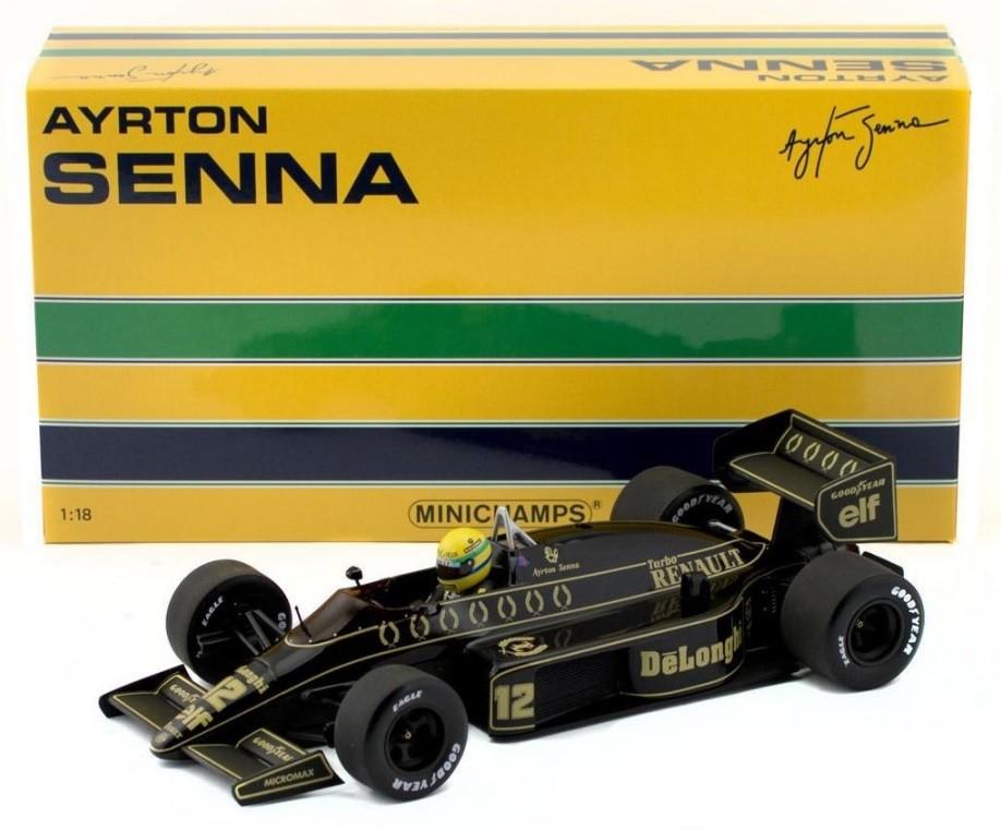 Miniatura Lotus Renault 98T 1986: Ayrton Senna Escala 1/18 - Minichamps