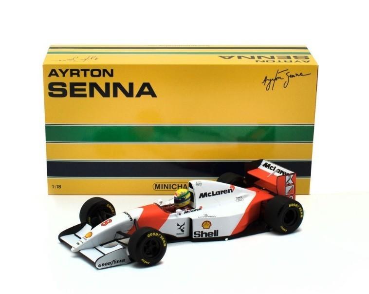 Miniatura Mclaren Ford Mp4/8 1993: Ayrton Senna Escala 1/18 - Minichamps