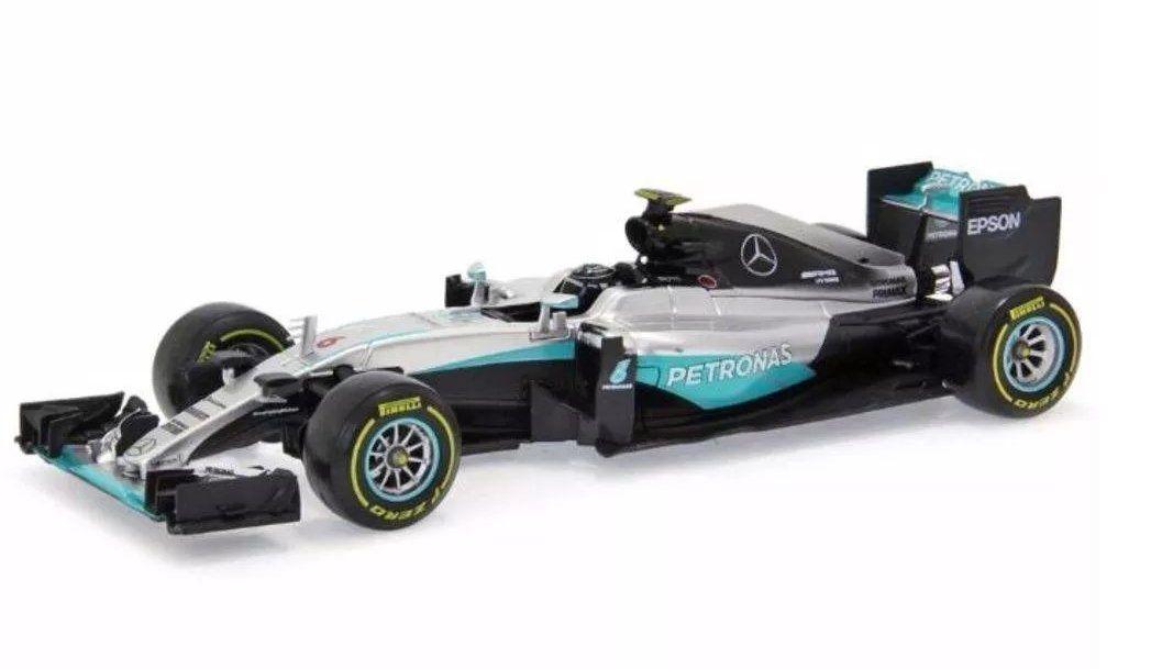 Miniatura Mercedez F1 W07 Hybrid Amg Petronas Número 6: Nico Rosberg Fórmula 1 (1/43) - Bburago - MKP