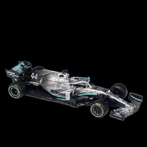 Miniatura Mercedez F1 W10 Amg Petronas 2019 Número 44: Lewis Hamilton Fórmula 1 (1/43) - Bburago - EVALI