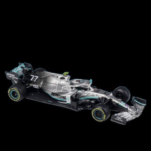 Miniatura Mercedez F1 W10 Amg Petronas 2019 Número 77: Valtteri Bottas Fórmula 1 (1/43) - Bburago - EVALI