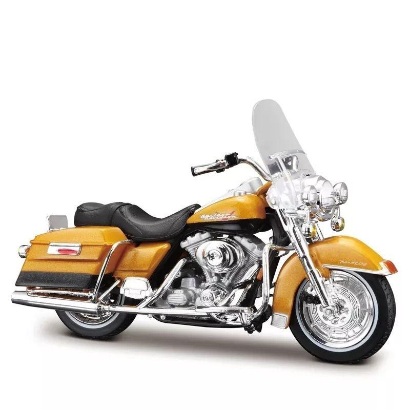 Miniatura Moto 1999 FLHR Road King: Harley Davidson (Serie 36) Escala 1/18 - Maisco
