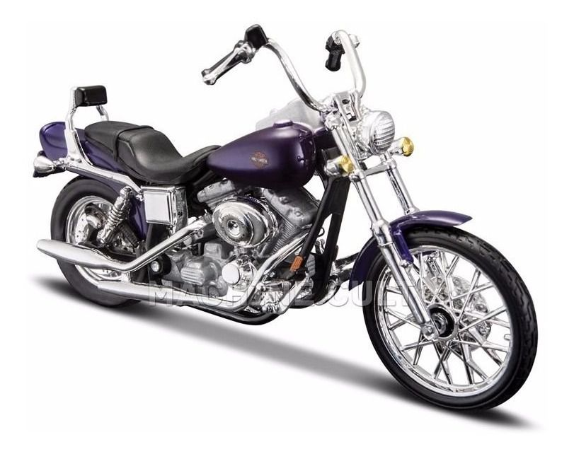 Miniatura Moto 2001 FXDWG Dyna Wide Glide: Harley Davidson (Serie 34) Escala 1/18 - Maisco