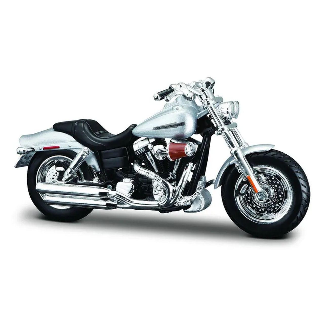 Miniatura Moto 2009 FXDFSE CVO FAT BOB: Harley Davidson (Serie 36) Escala 1/18 - Maisco