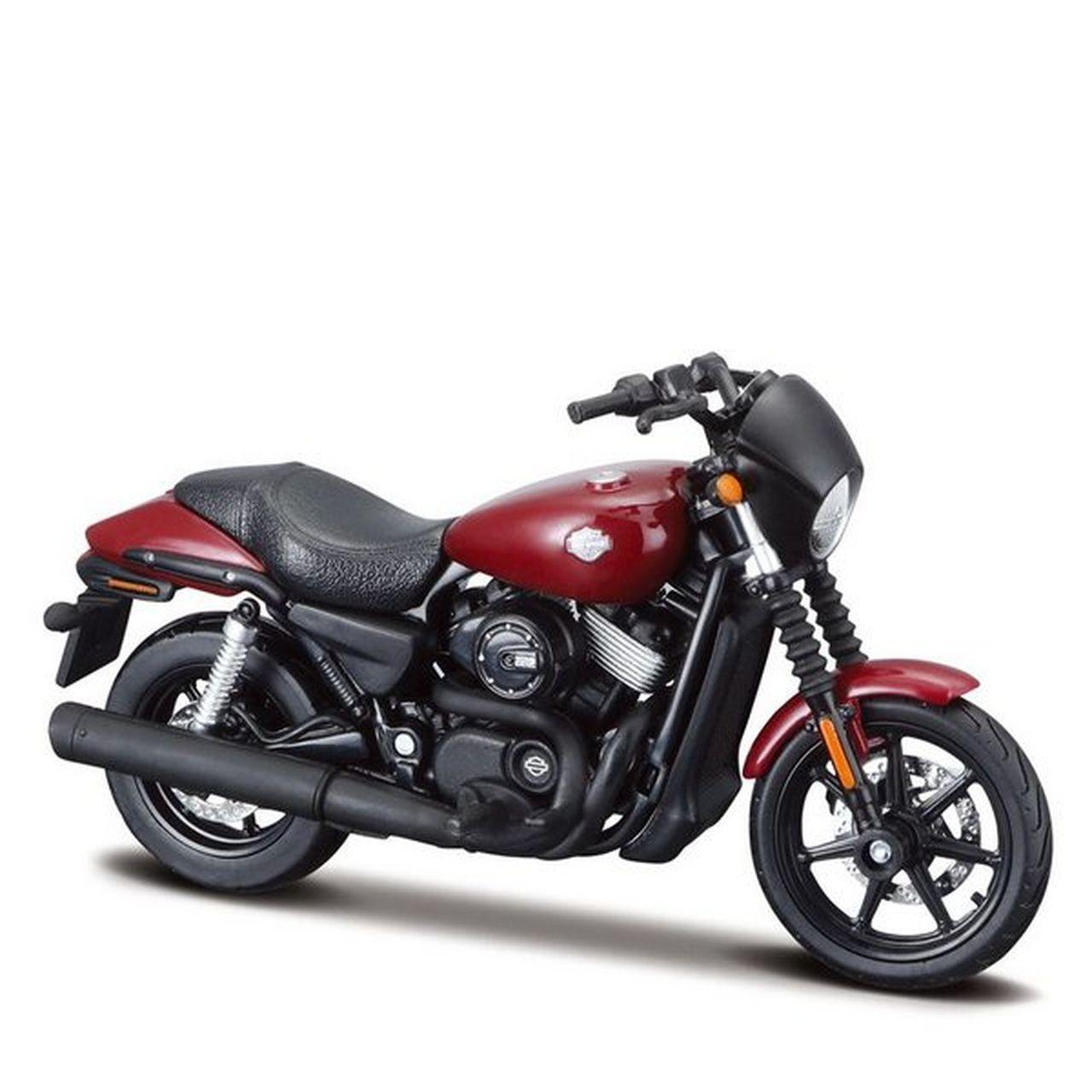 Miniatura Moto 2015 Harley Davidson Street 750 (Vinho): Harley Davidson (Serie 36) Escala 1/18 - Maisco
