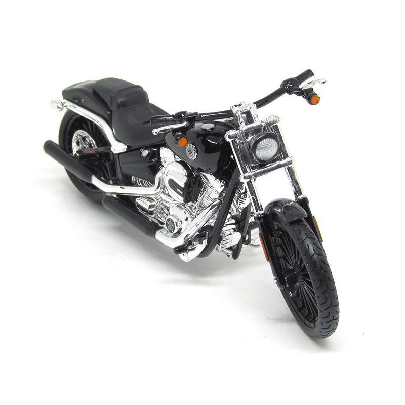 Miniatura Moto 2016 Breakout (Preta): Harley Davidson (Serie 35) Escala 1/18 - Maisco