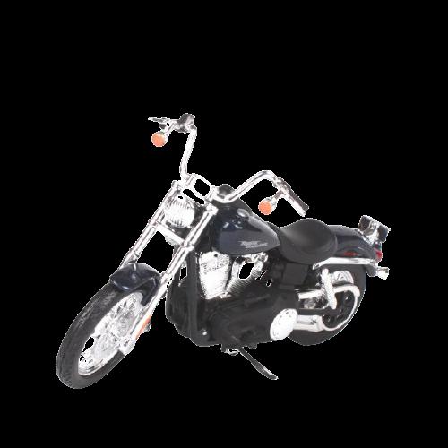 Miniatura Moto Harley-Davidson Dyna Street Bob - 2006 - Azul Marinho - 1:18 - Maisto - MKP