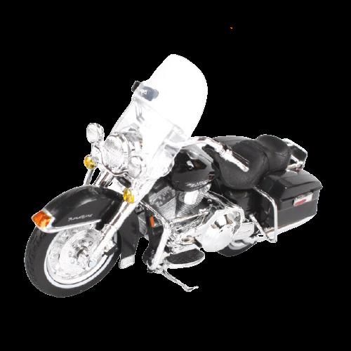 Miniatura Moto Harley-Davidson FLHR Road King - 1999 - Preto - 1:18 - Maisto - MKP