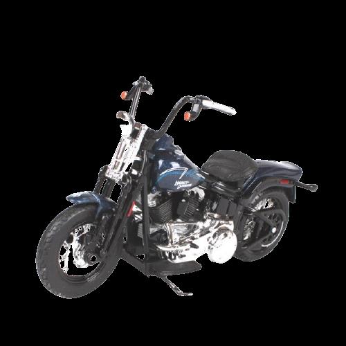 Miniatura Moto Harley-Davidson FLSTSB Cross bone - 2008 - Azul Marinho - 1:18 - Maisto - MKP