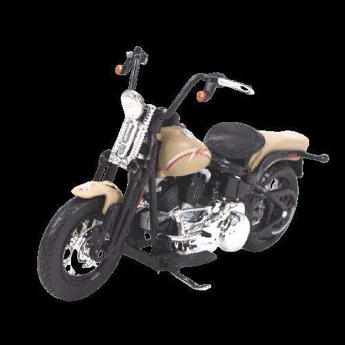 Miniatura Moto Harley-Davidson FLSTSB Cross bone - 2008 - Bége - 1:18 - Maisto - MKP
