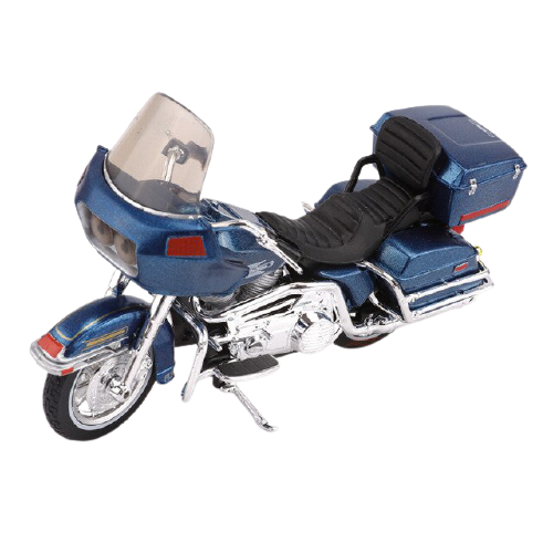 Miniatura Moto Harley-Davidson FLT Tour Glide - 1980 - Azul - 1:18 - Maisto - MKP