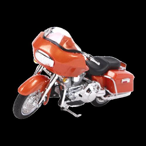 Miniatura Moto Harley-Davidson FLTR Road Glide - 2002 - Vermelha - 1:18 - Maisto - MKP