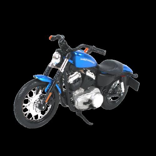 Miniatura Moto Harley-Davidson XL1200N Nightster - 2012 - Azul - 1:18 - Maisto - MKP
