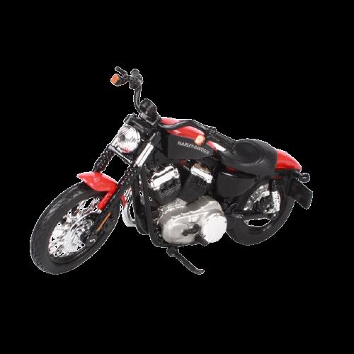 Miniatura Moto Harley-Davidson XL 1200N Nightster - 2007 - Preta e Vermelha - 1:18 - Maisto - MKP