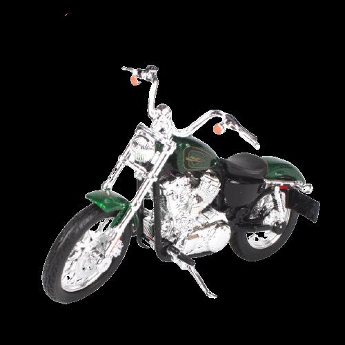 Miniatura Moto Harley-Davidson XL 1200V Seventy Two - 2012 - Verde - 1:18 - Maisto - MKP