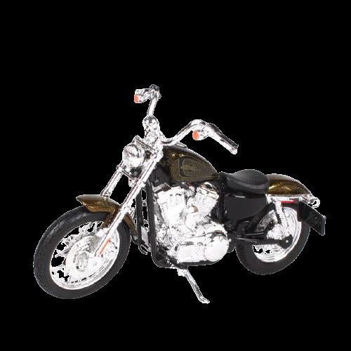 Miniatura Moto Harley-Davidson XL 1200V Seventy Two - 2013 - Marrom - 1:18 - Maisto - MKP