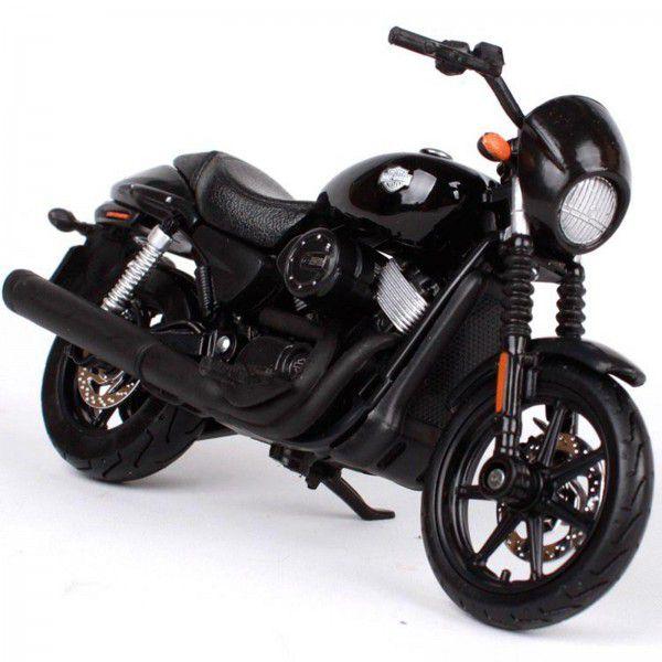 Miniatura Moto Street 750 2015: Harley Davidson (Serie 35) Escala 1/18 - Maisco