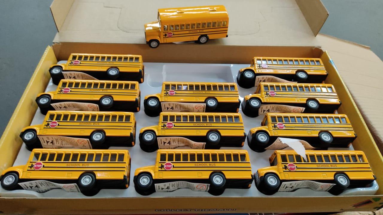 Miniatura Onibus Escolhar Amarelo - Die Cast: School Bus