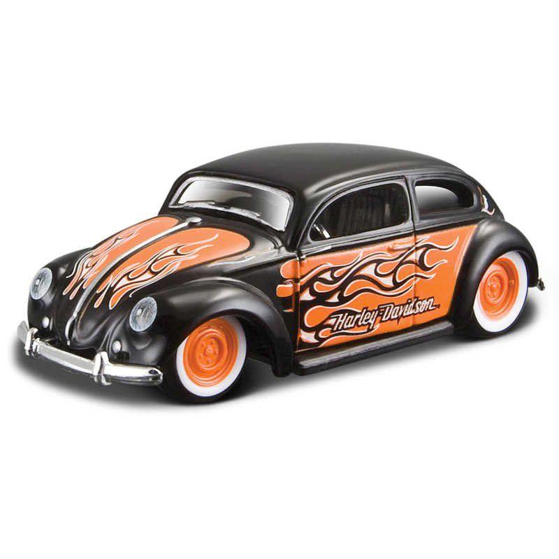 Miniatura Volkswagen Beetle: Harley Davidson (Escala 1/64) - Maisco
